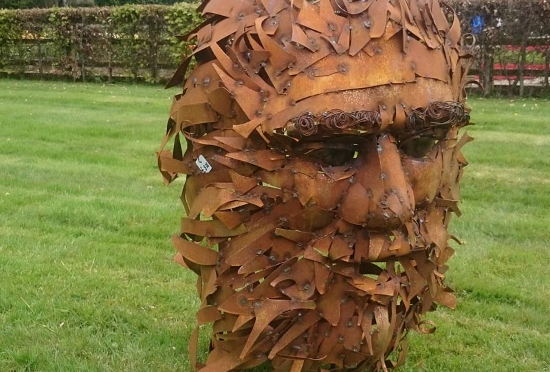 Green Man – scrap metal – free standing