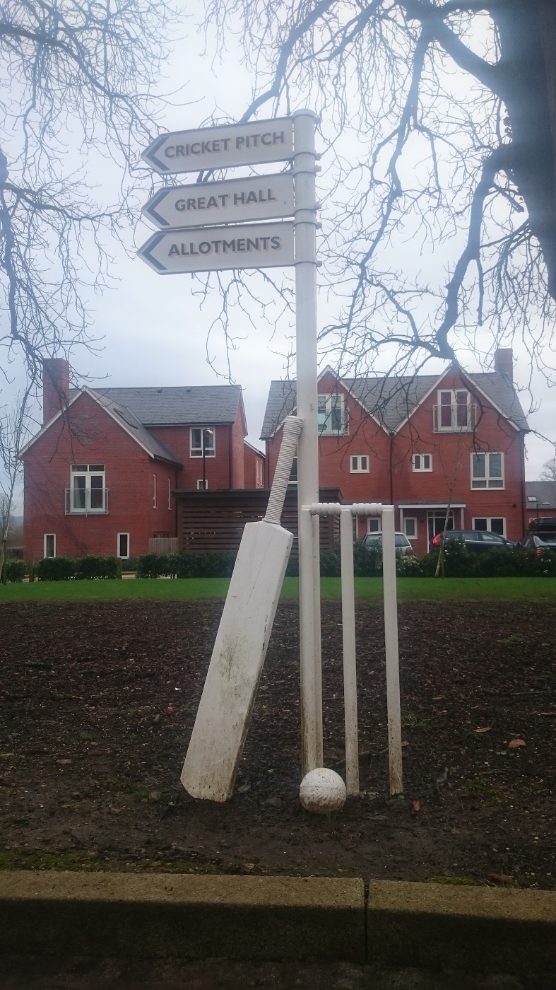 Cricket Field Signage & Bench
