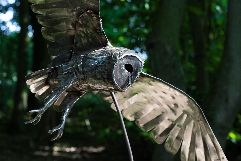 Flying Barn Owl stainless steel