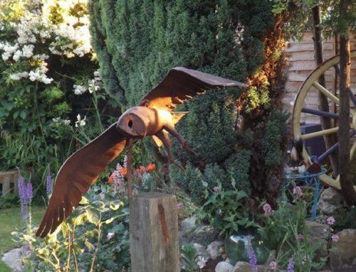 Swooping Barn Owl – mild steel