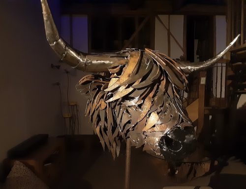 Highland Bull Head Sculpture