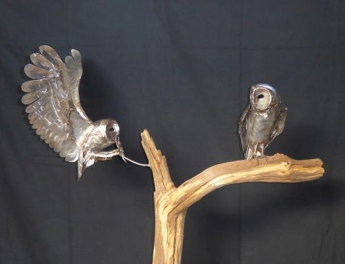 Two Owl Sculpture